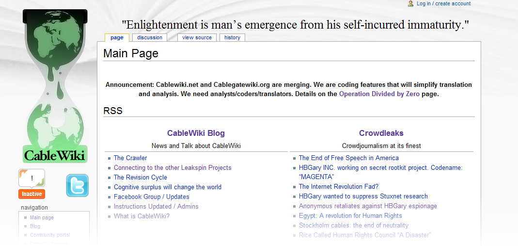Cablewiki/Cablegate Wiki
