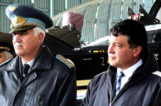 Chief of Defense Gen. Nikola Kolev and Minister of Defense Nikolai Svinarov