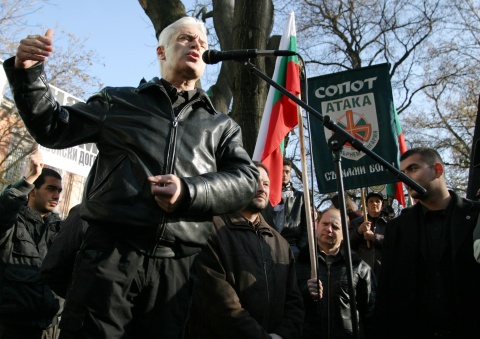 The leader of the Bulgarian far-right, nationalist Ataka party, Volen Siderov. Photo by BGNES